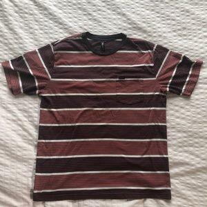 Rvca shirt vintage stripped men's large